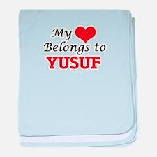 My heart belongs to Yusuf baby blanket