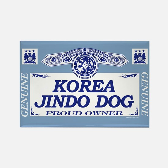 KOREA JINDO DOG Rectangle Magnet