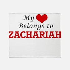 My heart belongs to Zachariah Throw Blanket