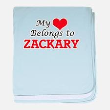 My heart belongs to Zackary baby blanket
