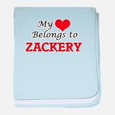 My heart belongs to Zackery baby blanket