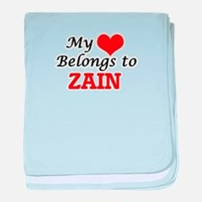 My heart belongs to Zain baby blanket