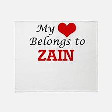 My heart belongs to Zain Throw Blanket