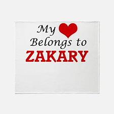 My heart belongs to Zakary Throw Blanket