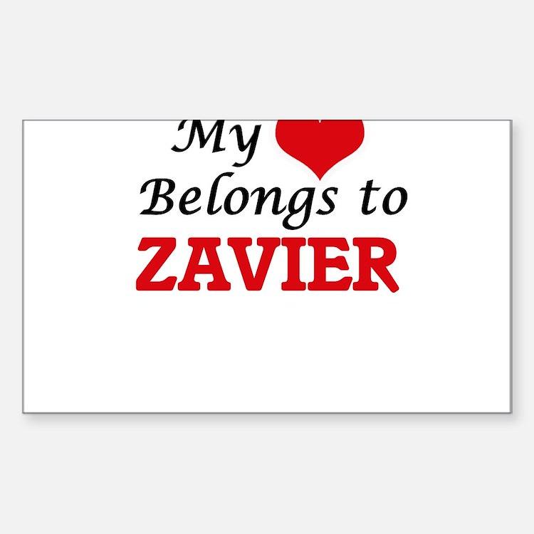 My heart belongs to Zavier Decal