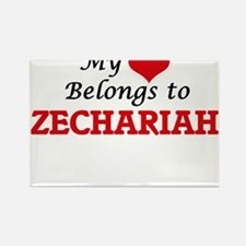 My heart belongs to Zechariah Magnets