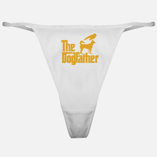 Cute Dog father Classic Thong
