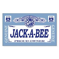 JACK-A-BEE Rectangle Decal