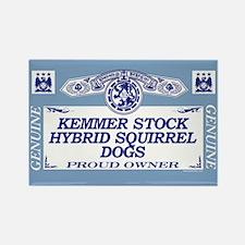 KEMMER STOCK HYBRID SQUIRREL DOGS Rectangle Magnet