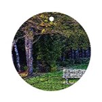 Bench in the Forest Ornament (Round)