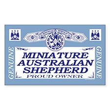 MINIATURE AUSTRALIAN SHEPHERD Sticker (Rectangular