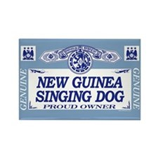 NEW GUINEA SINGING DOG Rectangle Magnet
