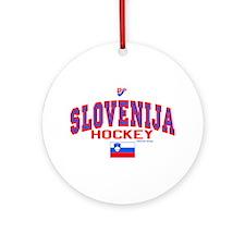 SI Slovenija(Slovenia) Hockey Ornament (Round)