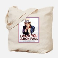 I Want You to Vote Ron Paul (tote bag)