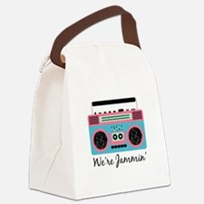 Jammin Boom Box Canvas Lunch Bag