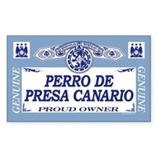 PERRO DE PRESA CANARIO Rectangle Decal