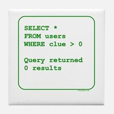 Clueless Users Tile Coaster