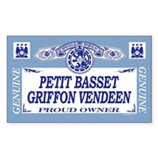 PETIT BASSET GRIFFON VENDEEN Rectangle Decal