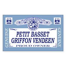 PETIT BASSET GRIFFON VENDEEN Rectangle Decal