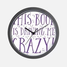This book is driving me CRAZY Wall Clock