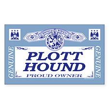 PLOTT HOUND Rectangle Decal