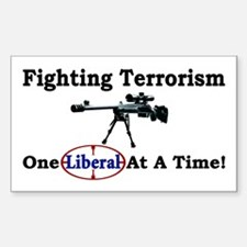 """""""Fighting Terrorism One Liberal At A Time"""" Decal"""