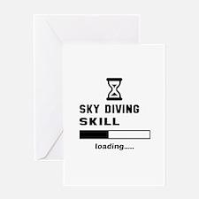 Sky diving Skill Loading.... Greeting Card
