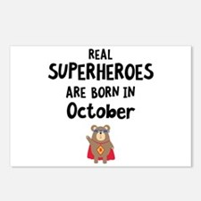 Superheroes are born in O Postcards (Package of 8)