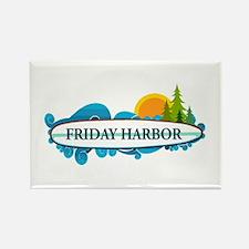 Friday Harbor. Rectangle Magnet Magnets