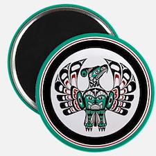 Haida Thunderbird green button Magnets