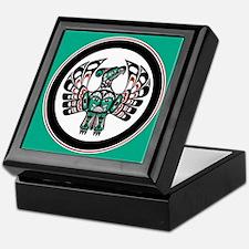 Haida Thunderbird green button Keepsake Box