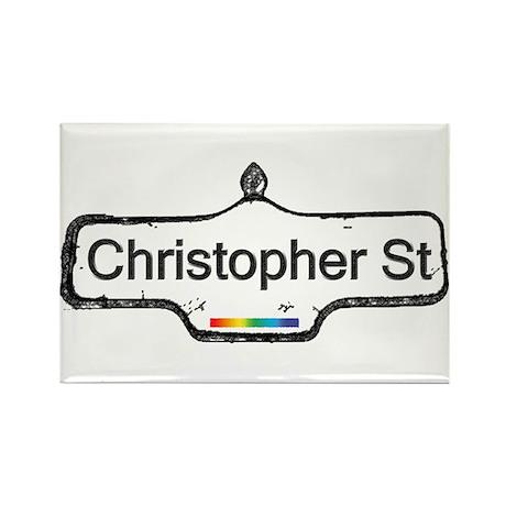 Christopher St. Rectangle Magnet