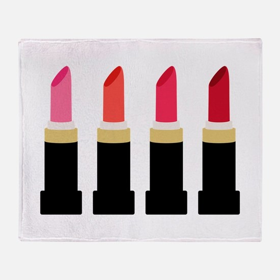 Lipstick Border Throw Blanket