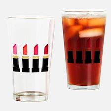 Lipstick Border Drinking Glass