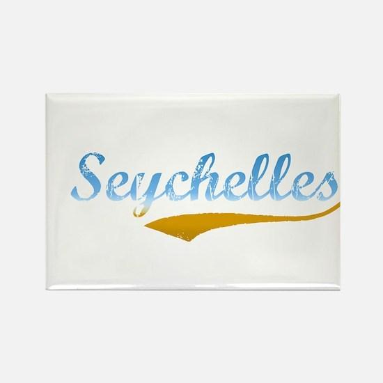 Seychelles beach flanger Rectangle Magnet