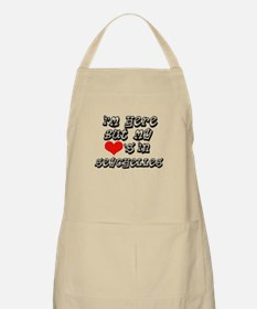 my hearts in Seychelles BBQ Apron