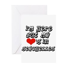 my hearts in Seychelles Greeting Card
