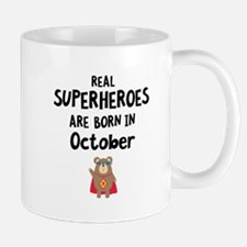 Superheroes are born in October Cncn3 Mugs