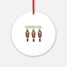 Nutcracker Crew Round Ornament