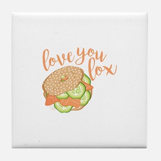 Love You Lox Tile Coaster