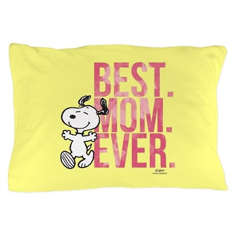 snoopy best mom ever full bleed pillow case