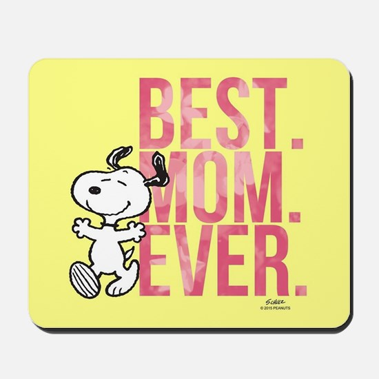 Snoopy -Best Mom Ever Full Bleed Mousepad
