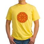 MANDALA ART Yellow T-Shirt