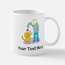 Boy Playing With Cat (Custom) Mugs