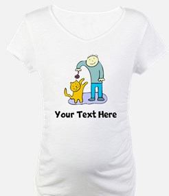 Boy Playing With Cat (Custom) Shirt