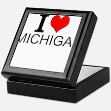 I Love Michigan Keepsake Box