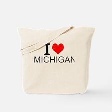 I Love Michigan Tote Bag