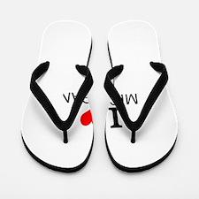I Love Michigan Flip Flops