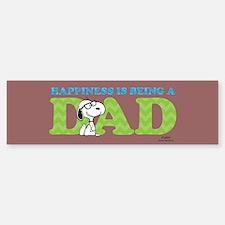 Snoopy - Hapiness is Dad Full Bleed Bumper Bumper Bumper Sticker