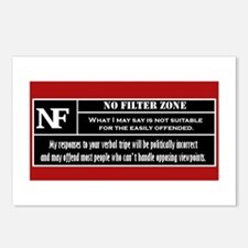 No Filter Zone Postcards (Package of 8)
